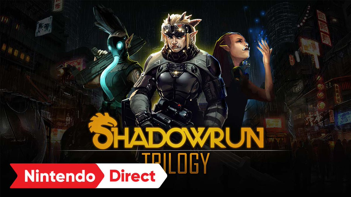 Three cult-classic cyberpunk-meets-fantasy RPGs are re-awakened on #NintendoSwitch!  Experience gripping turn-based tactical combat in a Cyberpunk setting where magic has revived creatures of high fantasy. The #Shadowrun Trilogy arrives in 2022! https://t.co/ozvOPiVJXr