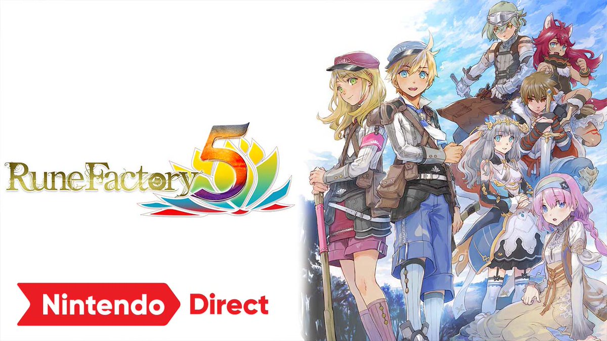 Set off on a new adventure in the town of Rigbarth and help keep the peace, cultivate crops, and tame monsters, finding friendship and love along the way. The latest entry in the Rune Factory series, #RuneFactory 5, arrives on 3/22/22! https://t.co/P7fcbLvZWd