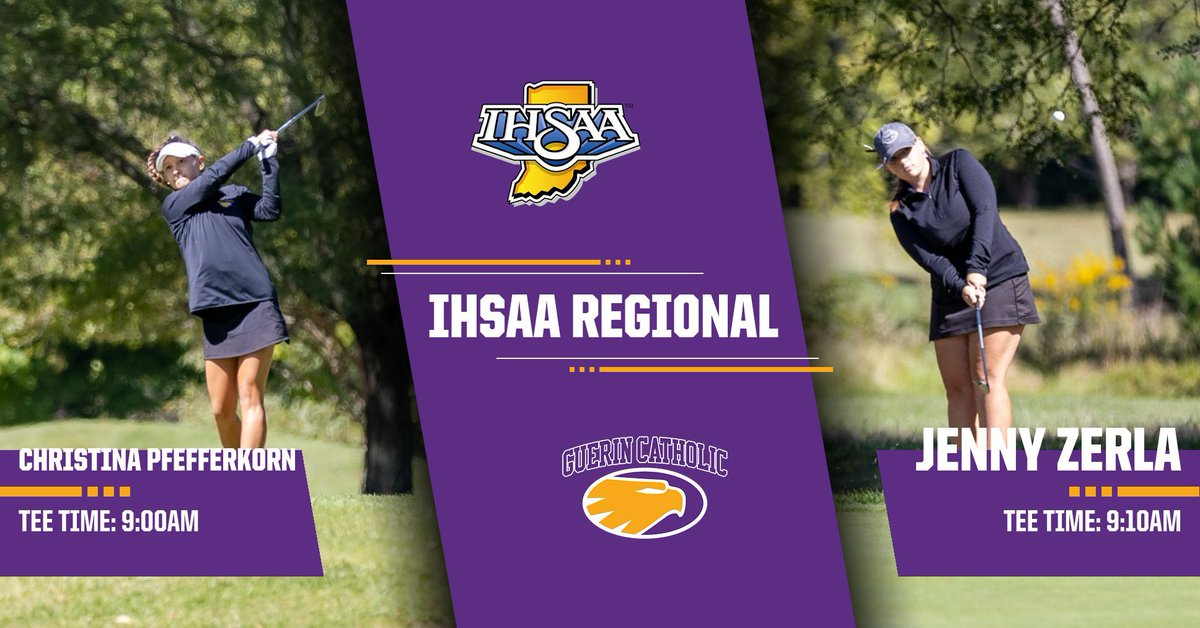 Girls Golf Regional   @IHSAA1   Good luck to Christina and Jenny in representing @GCHSGirlsGolf tomorrow at the Smock Regional!! https://t.co/MBBuc6NSn2