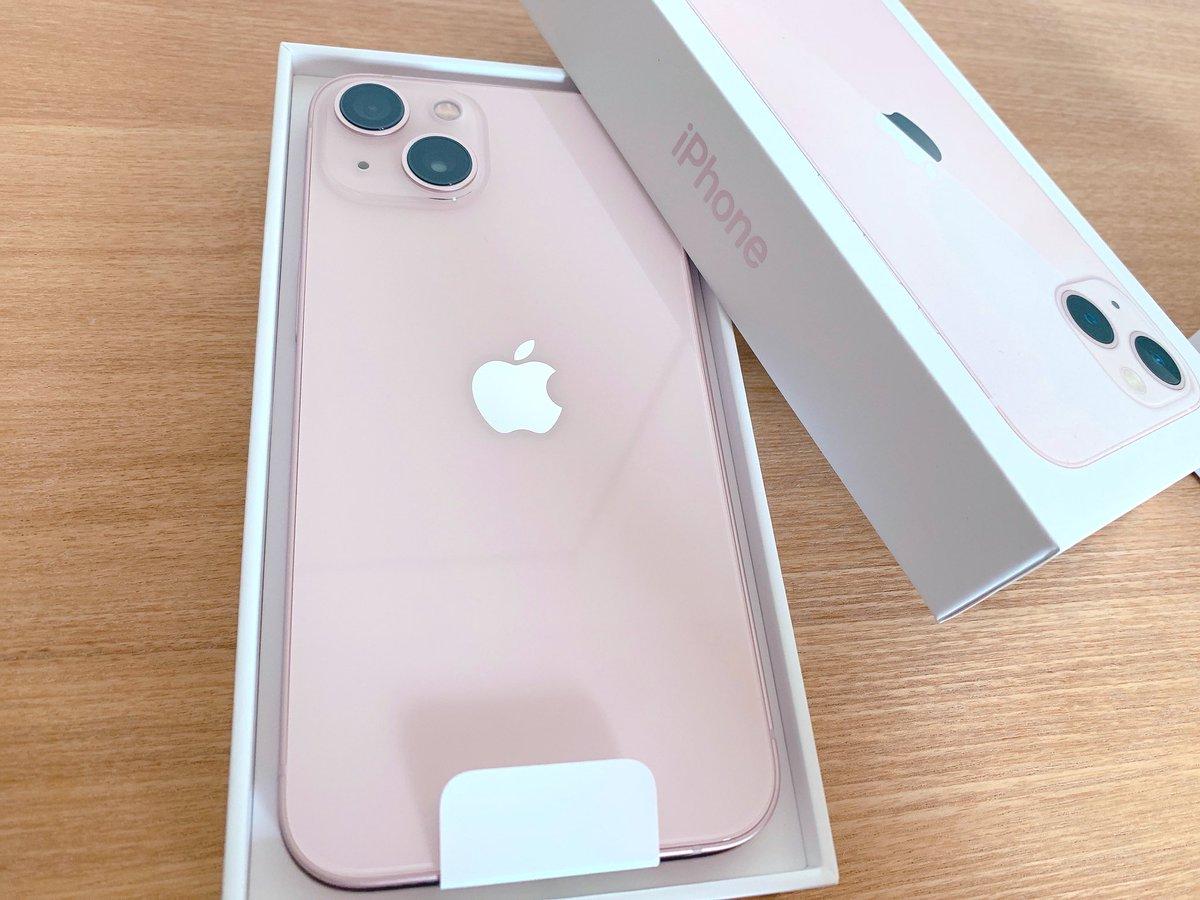 iPhone13ピンクきた〜💓