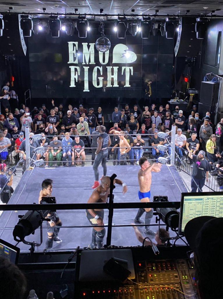 RT @notsam: Bunch of wrestlers rocking out to Limp Bizkit in 2021. Paradise?  Thank you #GCWEmo https://t.co/Rrut7qSn86
