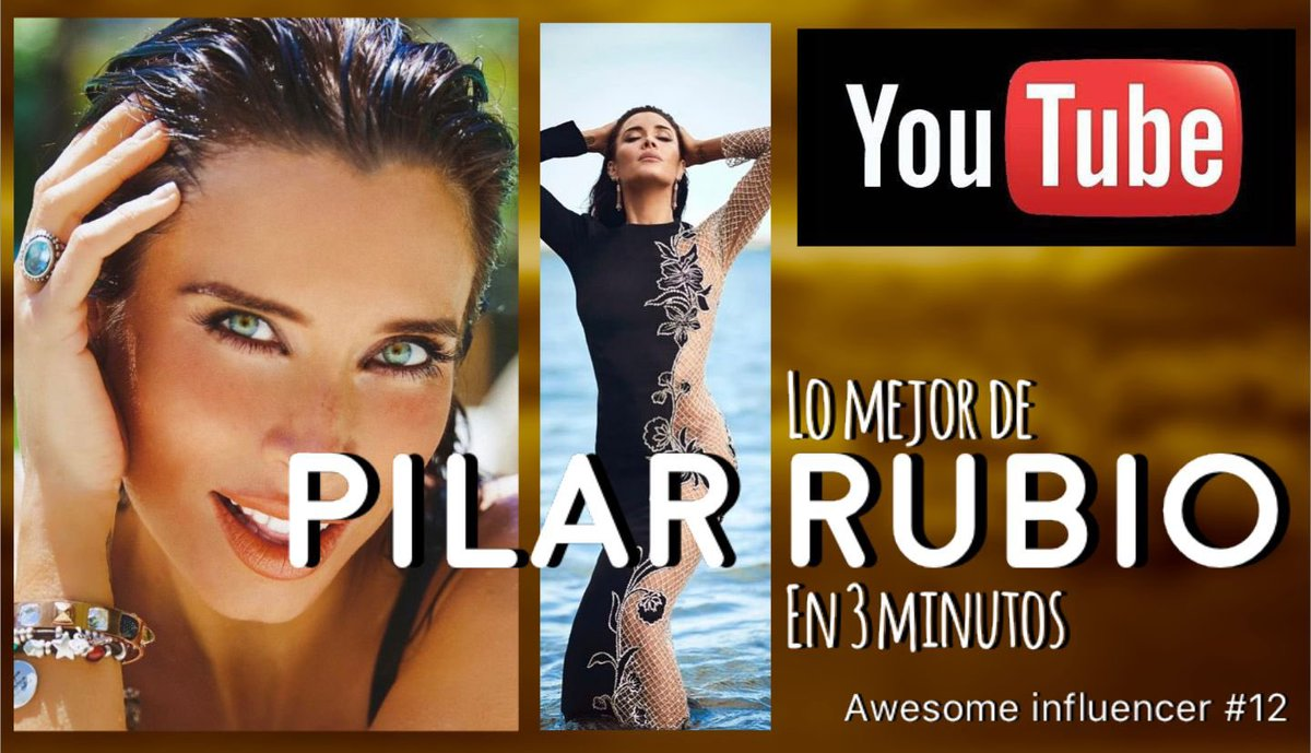 The best of Pilar Rubio in 3 minutes, Pilar Rubio, top model, awesome in... https://t.co/kLcgtaT86t vía @YouTube https://t.co/IcKfWL8J1O