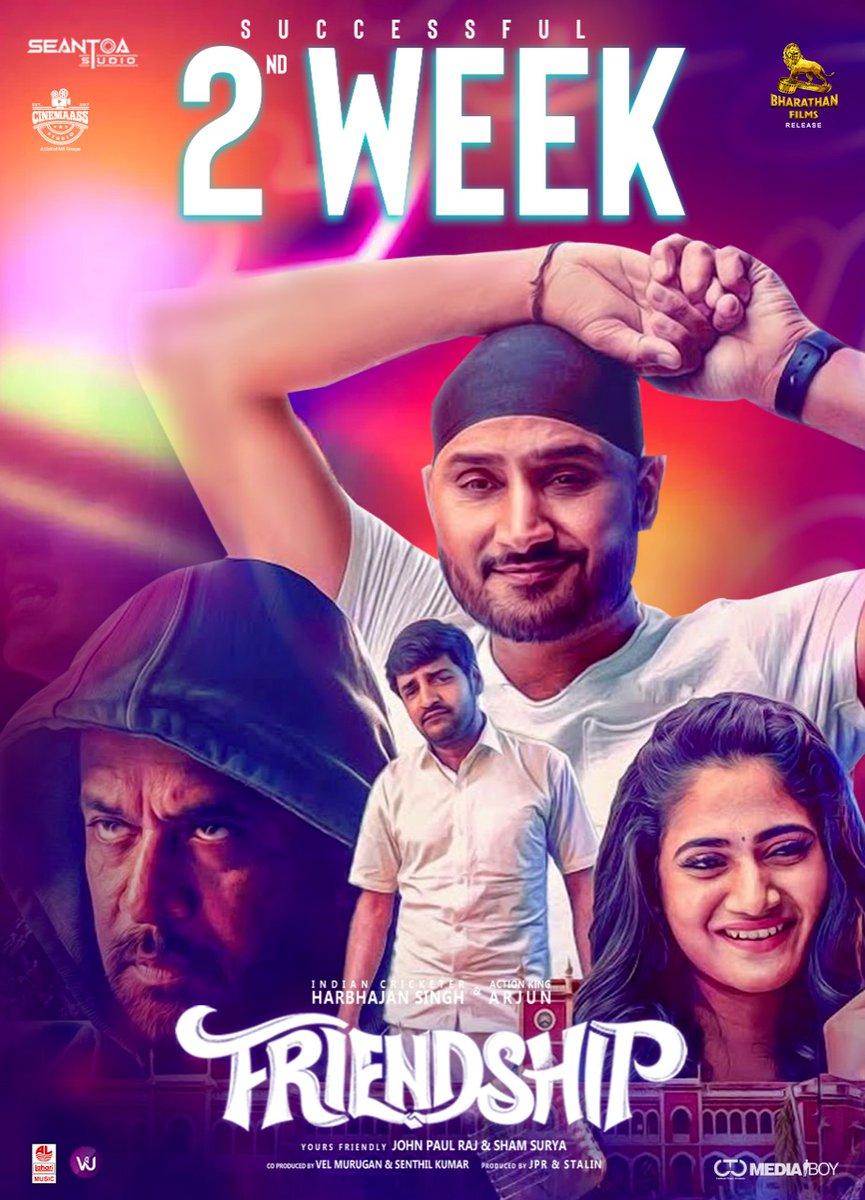 Last week's release #Friendship enters its 2nd week in cinemas with a few shows in multiplexes!   @harbhajan_singh @akarjunofficial #Losliya @actorsathish https://t.co/dFU6UQ0vXM