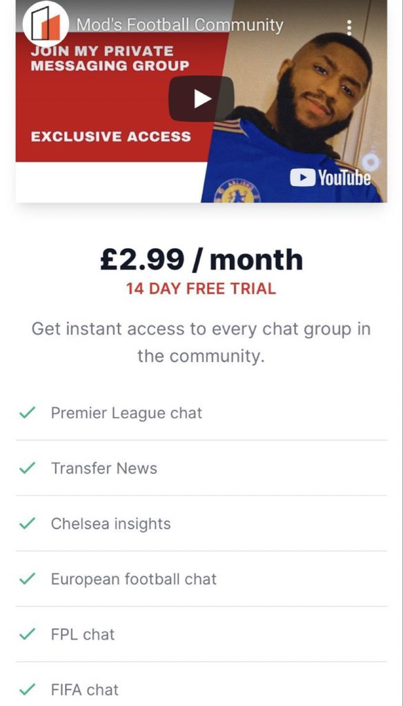 If you want to be part of our private soccer community, and get exclusive access to news around the team,  Just pay us $0, and follow us on Twitter.