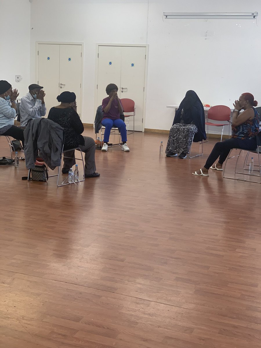 First day of our chair based exercise followed by our community lunch. All welcome. @HelloSanctuary @dpymayorhackney @felixprojectuk @MarketsHackney @mayorofhackney @BeanExtract @YSHackney @HackneyLabour @NuDawnLDN @Sport_England