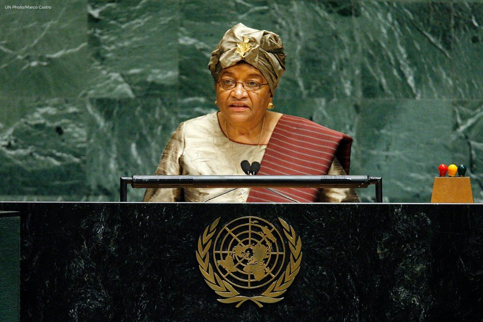 As the President of Liberia, @MaEllenSirleaf was the first African woman to address the #UNGA. President Sirleaf served as president from 2006–2018. She was the first African woman to be democratically elected as the Head of State. Discover more: unwo.men/auPP50GfpfQ