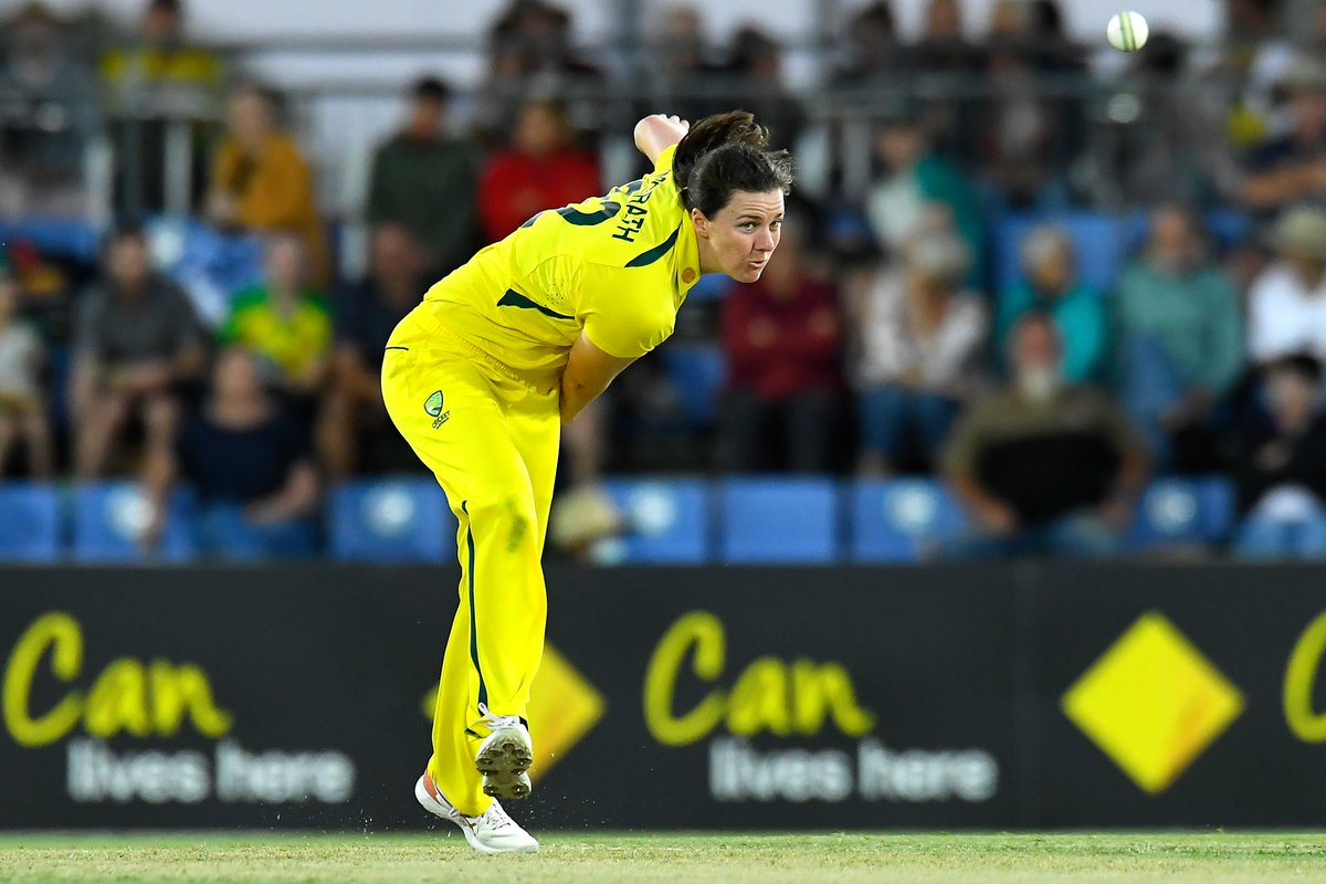 Tahlia McGrath picks up her third, Deepti Sharma departs for 23.  India are 223/6 in the 43rd over. What target will they set for Australia?  📺 Watch the action on  (select regions) 🧮 Follow live:  | #AUSvIND