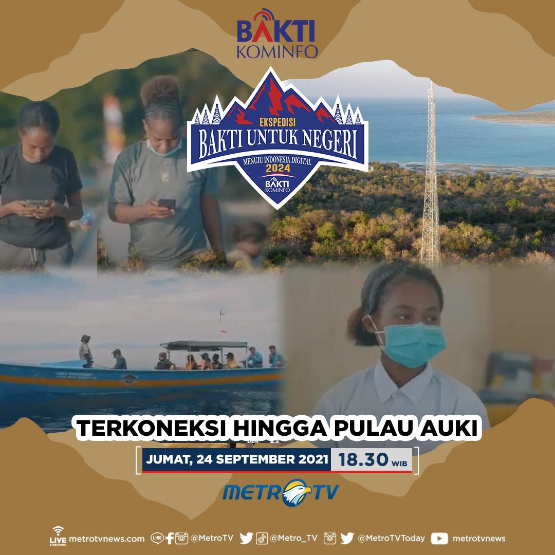 """Tim Ekspedisi tiba di Kab. Biak Numfor untuk melihat pembangunan tower BTS  @baktikominfo dalam rangka pemerataan sinyal 4g di Pulau Auki, Papua. Saksikan #BaktiUntukNegeri """"Terkoneksi Hingga Pulau Auki"""" Jumat (24/9) pukul 18.30 di @Metro_TV   #BAKTIKominfo2021 #MTVNAD https://t.co/jtZSr0EAWa"""