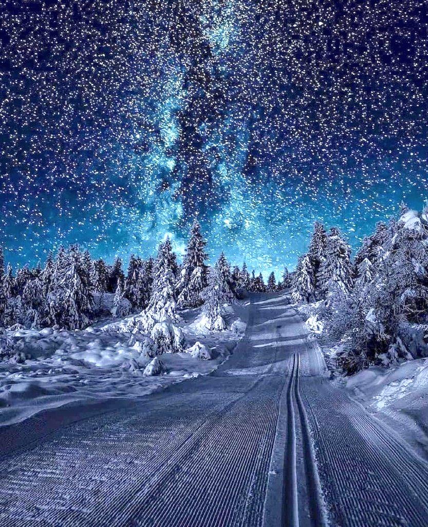 ノルウェーの星降る夜