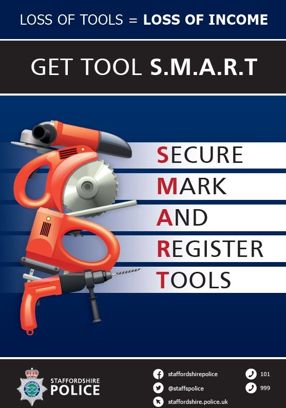 If you're a van owner we want you to get SMART when it comes to protecting yourself from becoming a victim of crime. Secure, Mark And Register tools to reduce the opportunity for tool theft. For advice visit our website: orlo.uk/rECYy