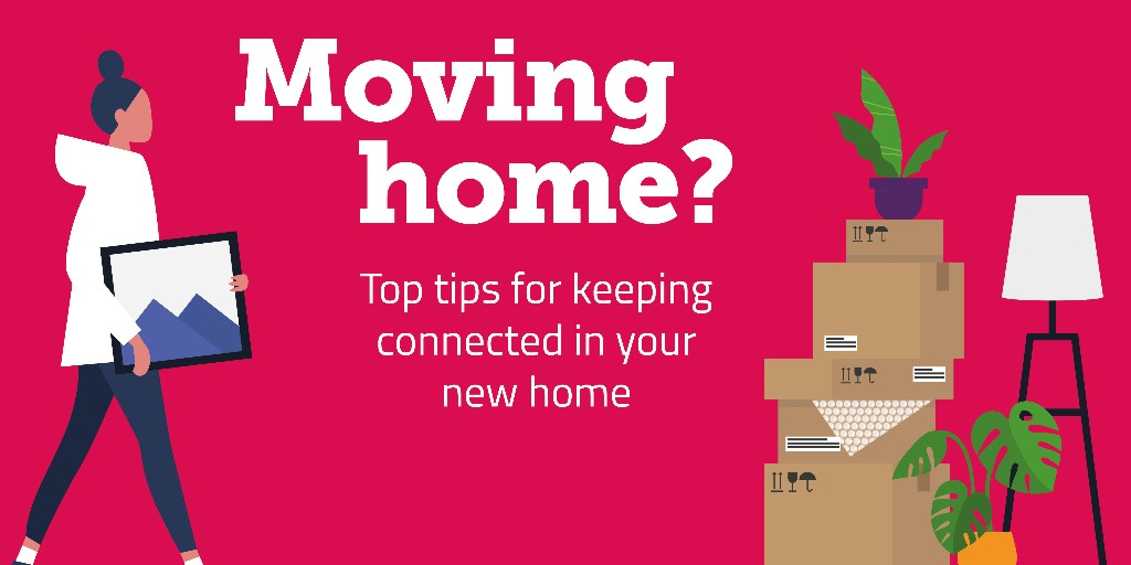 Moving house? With UK households relying on phone and broadband services more than ever before, you won't want to be stuck without a connection. Here's our tips for staying connected: ofcom.in/movinghome