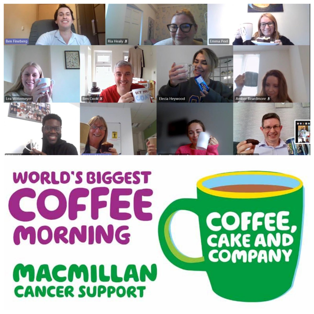 Our weekly team meeting finished off this afternoon with a coffee and a cake to support the #macmillancofeemorning, raising awareness for  @macmillancancer and the wonderful work they do throughout the year.   For more information: https://t.co/SklzvbKOAr  #ThankYouMacmillan https://t.co/DunY3W6sPe