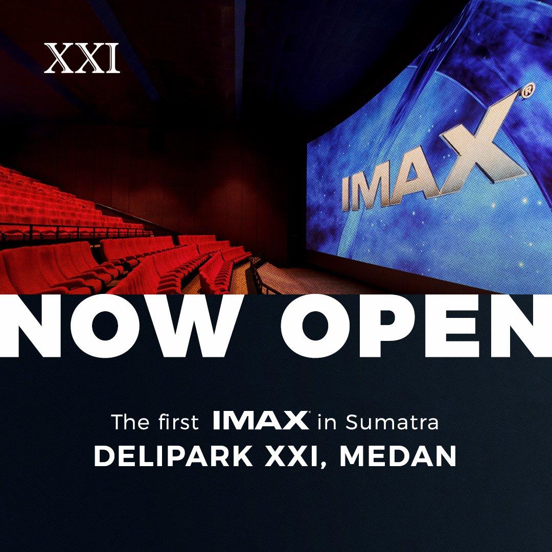 Sobat XXI Medan dan sekitarnyaa.. Ini dia nih yang ditunggu-tunggu!! 😍.  Mulai hari ini, kalian sudah bisa nonton di IMAX karena per hari ini teknologi IMAX pertama di Sumatera hadir di DELIPARK XXI, MEDAN. Yuk, langsung beli tiketnya di M-Tix! https://t.co/J66C9FT8XV