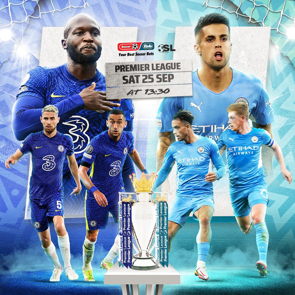 Premier League Action! Chelsea vs Manchester City These two teams go head to head. Who will you be supporting? Open a Tab account and get a 10% bonus, click here to sign up 👉 bit.ly/3ls8dwM @tab_Soccer #Soccer10 #Soccer10Pools #Soccer6 #tabsoccerbet