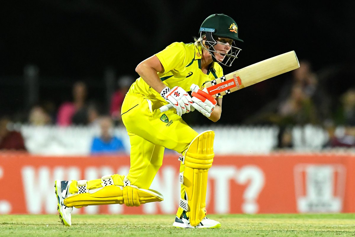 Fighting fifties from Tahlia McGrath and Beth Mooney have stabilised Australia.  Can the duo take them across the line?  📺 Watch the action on  (select regions) 🧮 Follow live:  | #AUSvIND