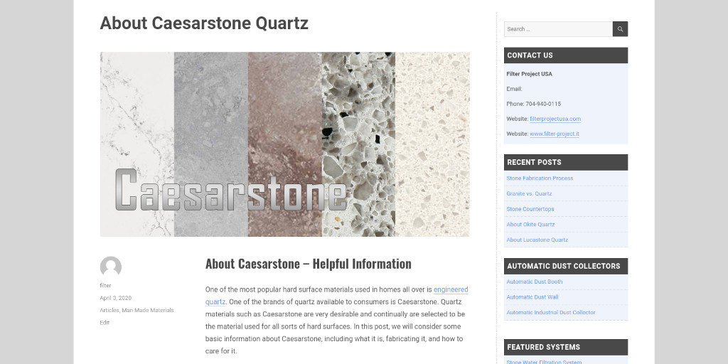 Quartz brands have their own color palettes and #caesarstone has theirs too: filterprojectusa.com/about-caesarst…