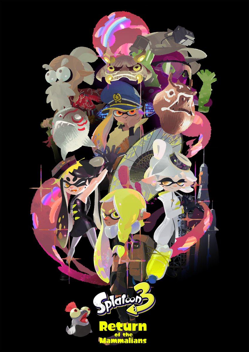 """The theme of the #Splatoon3 story mode appears to be """"Return of the Mammalians."""" Wha?! As far as we know, mammals have disappeared from the surface of the planet (minus a couple cool cats, of course). What does it mean for these Inklings? https://t.co/PvTezWA2eo"""