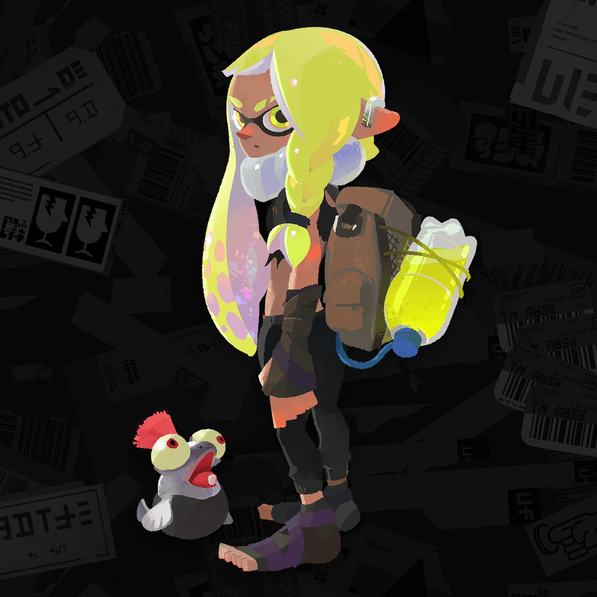 This Splatsville youth and trusty little Smallfry buddy are scrap hunters who search for junk gems by day and splat it up in Turf Wars on the side. It seems this Inkling met the New Squidbeak Splatoon and is now their new Agent 3 in the continued fight against the evil Octarians! https://t.co/DEWDPNvayL