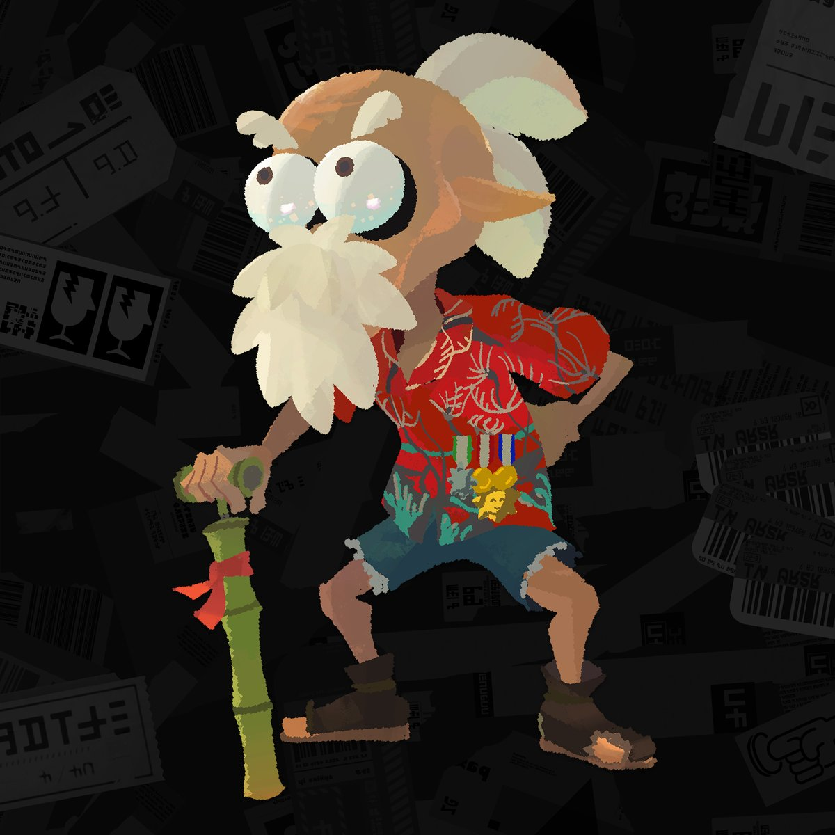 This elderly Inkling is Craig Cuttlefish. He was once captain of the Squidbeak Splatoon and is a true hero of his day. He recently retired from active duty and passed on his captain's hat to a brave new leader. No slouch, he's still patrolling the squid world though. What a guy! https://t.co/3xAzX5JZHP