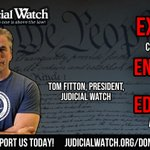 Image for the Tweet beginning: Support Judicial Watch TODAY by