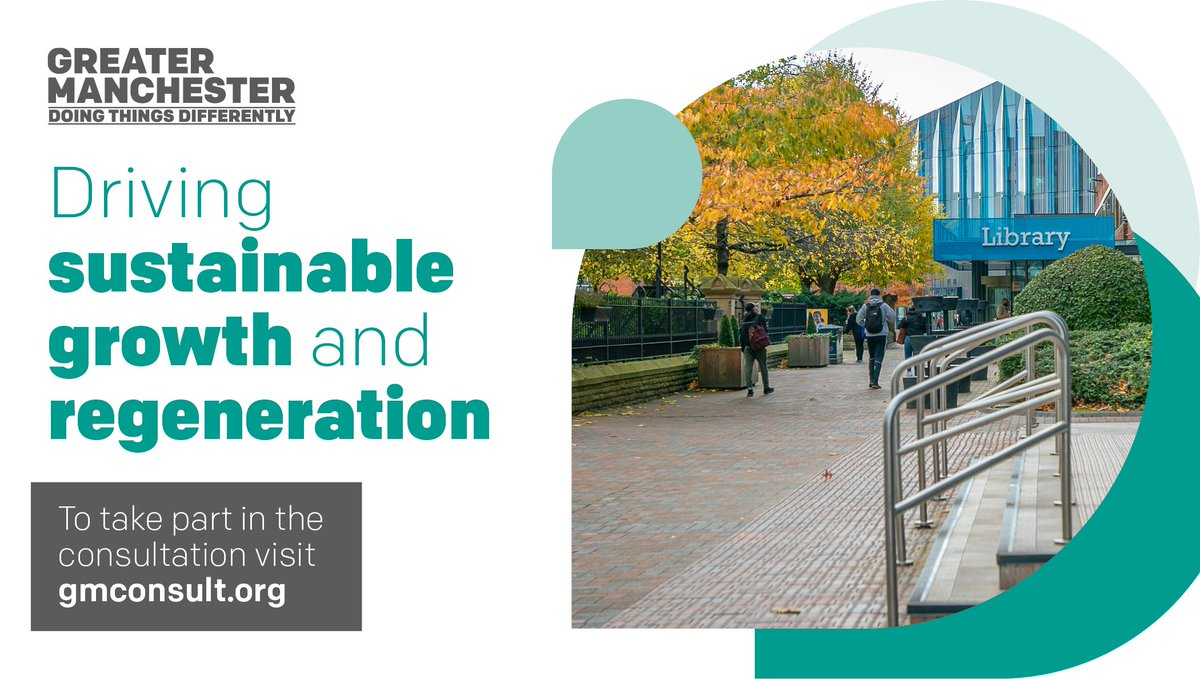 Places for Everyone is a plan about providing sustainable growth for our areas.  Places for Everyone is a key part of this shared vision to drive sustainable growth and regeneration.  Take part in the consultation https://t.co/cvmrSXGpIQ  The consultation is open until Oct 3 📅 https://t.co/w7bpUnbfIe