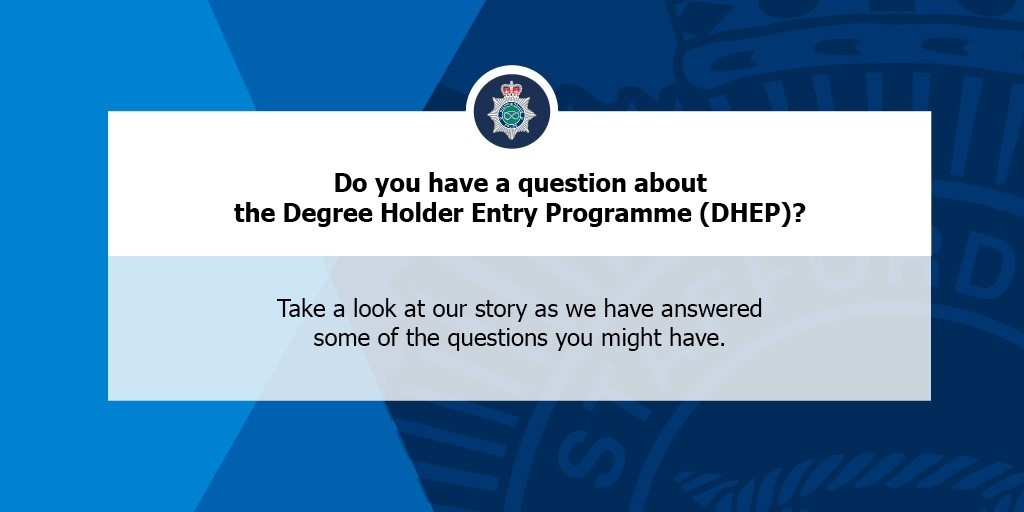 #RECRUITMENT   We are recruiting police officers! Recruitment is open for the Degree Holder Entry Programme (DHEP), but do you want to know more about this route into policing? Take a look at our stories over on our Facebook or Instagram for some Q & As📱