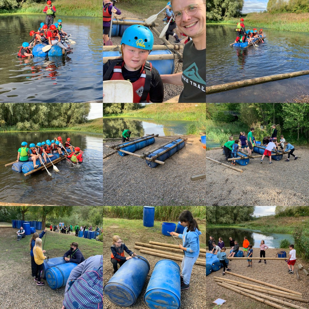 Groups 2 and 3 completed their final activity this morning. They created two wonderful rafts and had lots of fun trying them out! 🛶💦