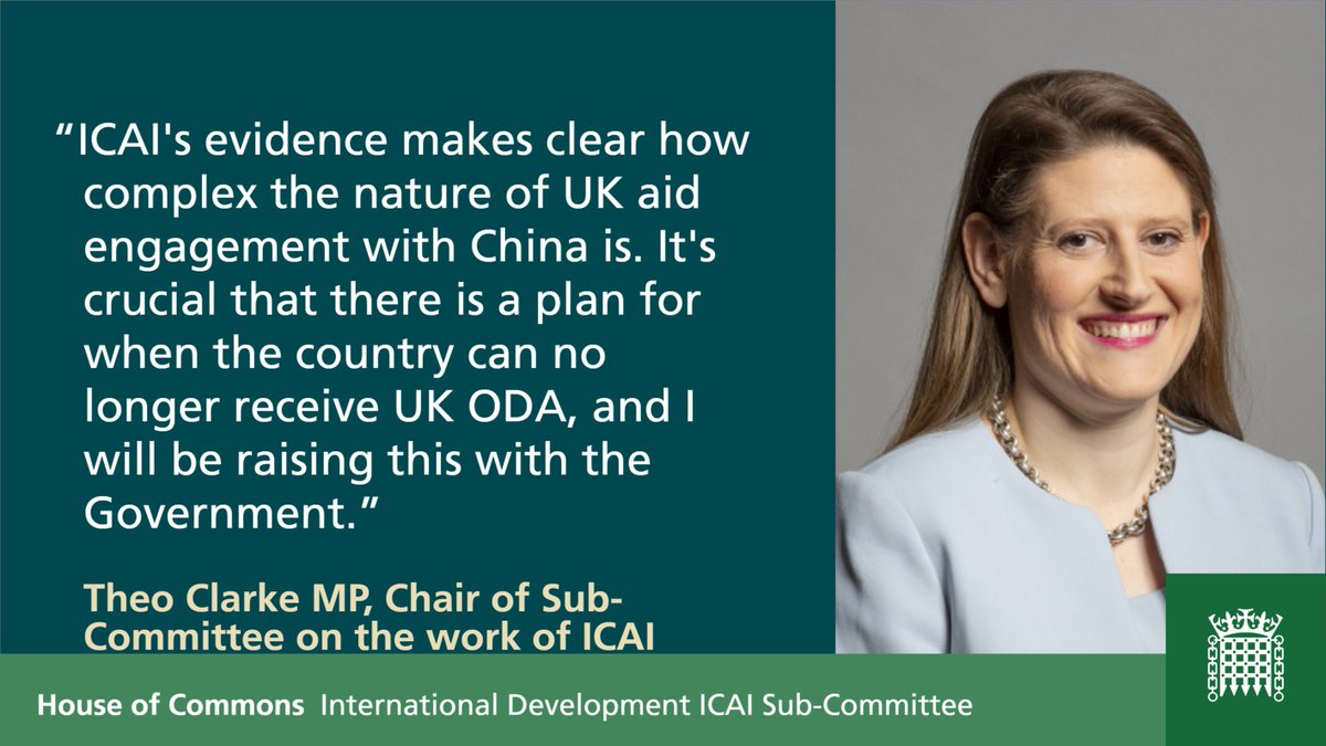 Reflecting on Wednesday's oral evidence from @icai_uk, here's what the Chair of the Sub-Committee on the Work of ICAI, @theodoraclarke said (full quote below)
