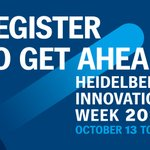 Image for the Tweet beginning: Don't miss Heidelberg Innovation Week