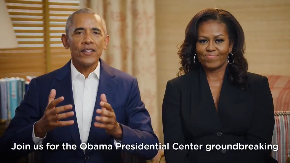 We've got big news!   Our virtual groundbreaking festivities for the Obama Presidential Center will take place on Monday, Sept. 27 and Tuesday, Sept. 28.   Watch a special message from @BarackObama and @MichelleObama now.