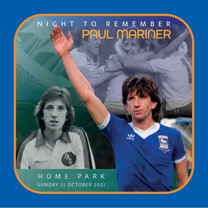 Love the beer mats for the Night to Remember Paul Mariner @homeparkstadium @ArgyleLegends