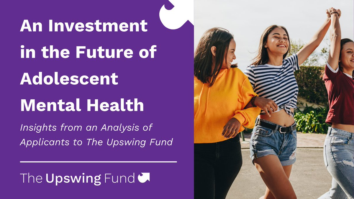 Our partners at @theupswingfund released their first report sharing insights about adolescent mental health organizations & examples of culturally responsive care. Check it out!