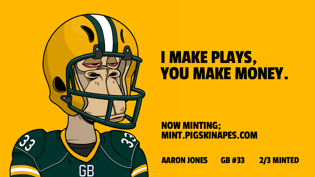 Sunday is approaching quickly! Have your Pigskin Apes yet?