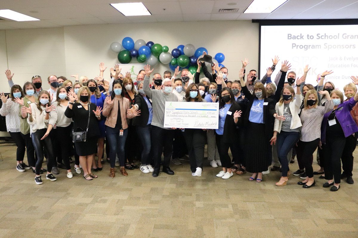 It's been a busy Friday! Thank you so much to everyone who had a hand in making this day possible!   $195,600 was awarded today to @officialSPS  through our Back to School Grant Program.  We're already counting down the days for our 2022 Grant Delivery Day!   #supportSPS