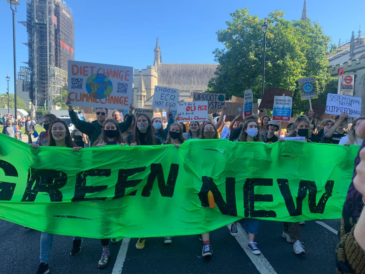 Proud to support today's #ClimateStrike demanding to #UprootTheSystem. We need a Green Industrial Revolution now, and I'm proud to be backing it.