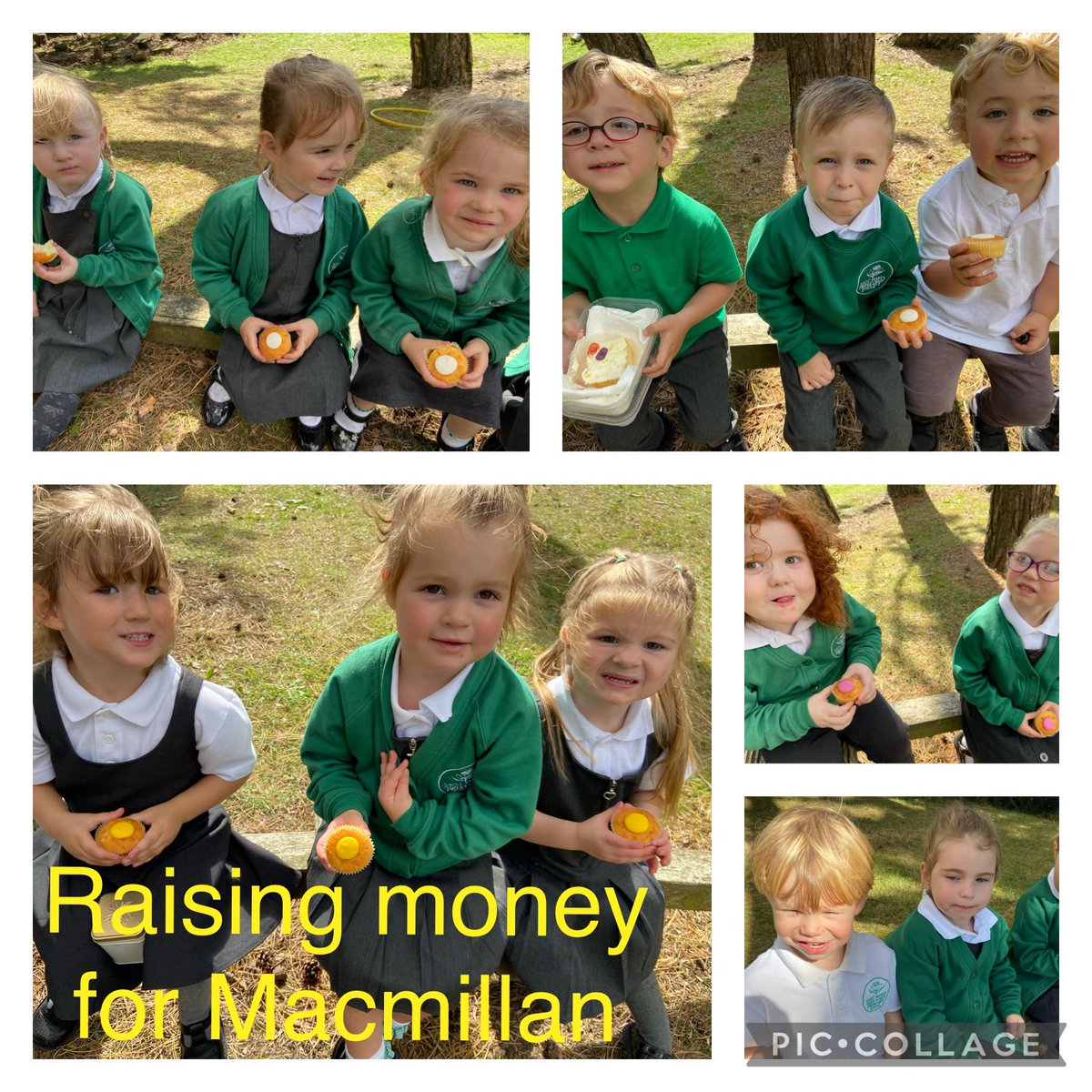Afternoon Nursery enjoyed collecting money and eating cakes for #MacmillanCoffeeMorning @StMarysCIW #wearestmarysciw #dreambelieveachieve