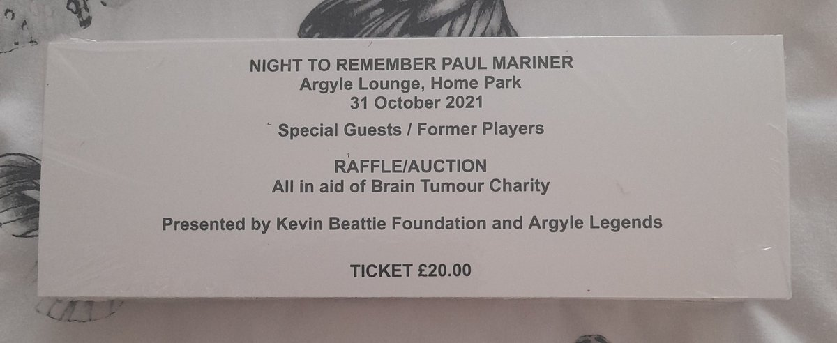 Final call tonight. If you are attending tomorrow's game and would like a ticket for the night to Remember Paul Mariner then i will be at @TheGreyhoundIps or outside ground. Please email malcolm@kevinbeattiefoundation.co.uk or DM. Also Raffle tickets are available this way
