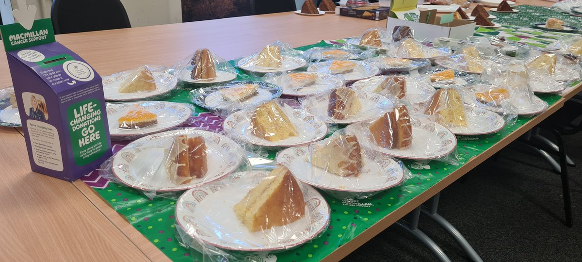 Our staff raised £231 for the #MacmillanCoffeeMorning today 🍰☕   Thank you to our 'dream team' for putting their own time and effort in to such a good cause. Great for Staff Wellbeing too.   #MacmillanCoffeeMorning