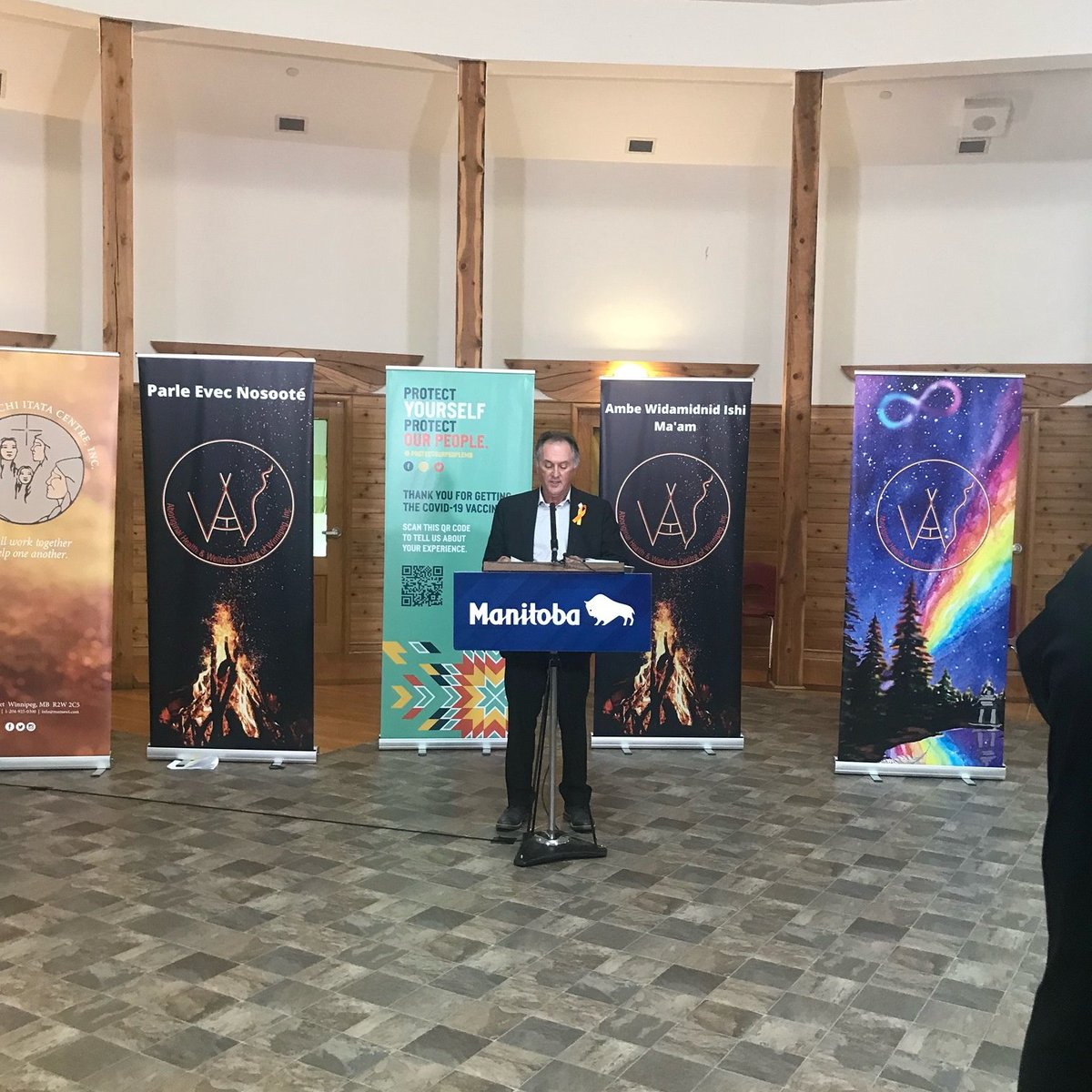 test Twitter Media - Glad to join @ManitobaPremier Goertzen, @AMCMBChiefs Grand Chief Dumas, @AudreyGordonMB, @Mayor_Bowman, Dr. Marcia Anderson and several others to promote Urban Indigenous Vaccine Clinics.  These clinics #ProtectMB by making vaccines more accessible for Indigenous Manitobans. https://t.co/JK4ygrHEqX