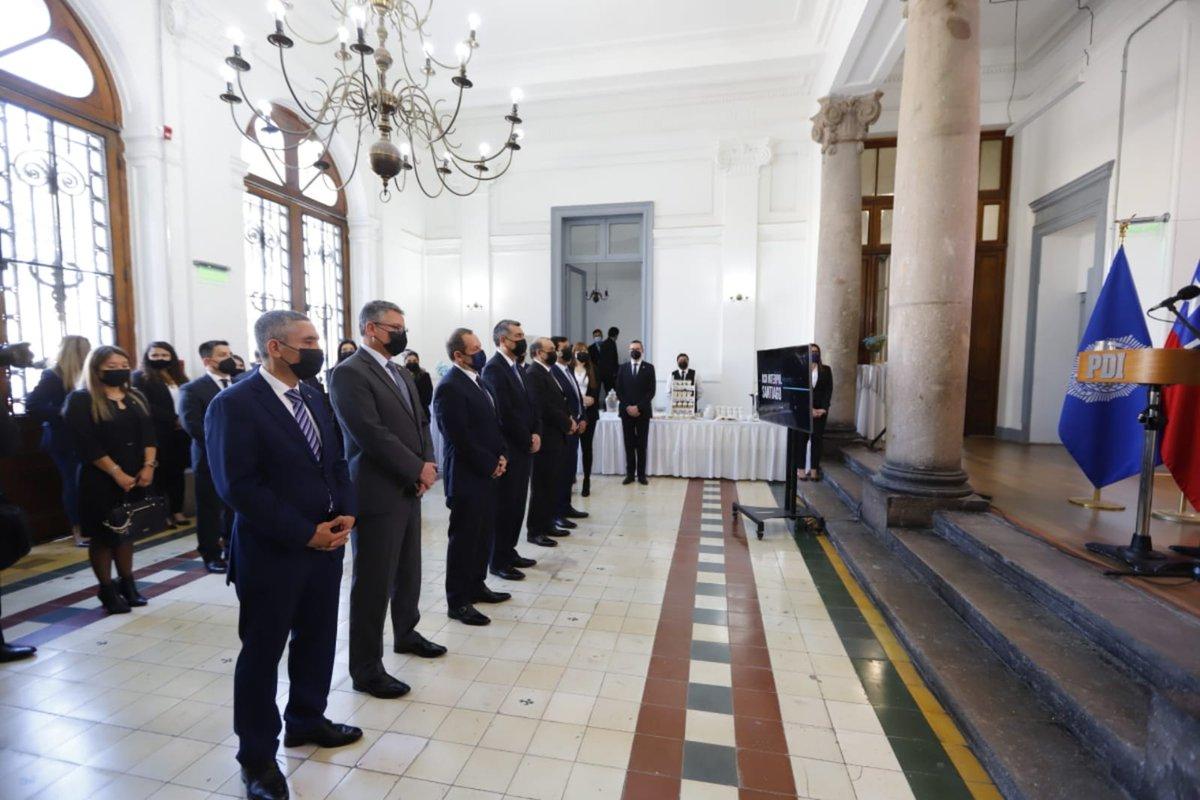 Director General, Sergio Muñoz, encabeza actividad que conmemora los 77 años de la creación de la OCN Interpol Santiago, unidad de la PDI que es el punto de contacto de Chile con el resto de países miembros de @INTERPOL_HQ