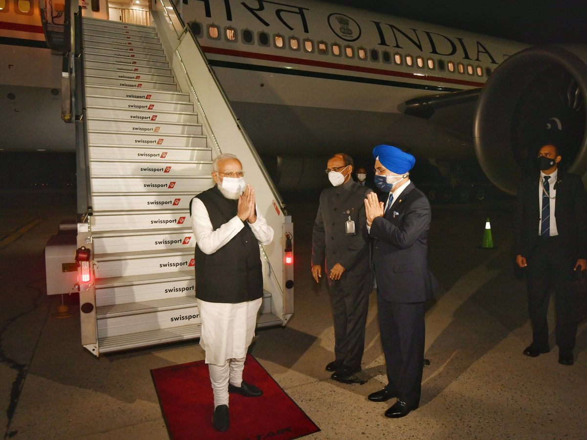 Landed in New York City. Will be addressing the UNGA at 6:30 PM (IST) on the 25th.
