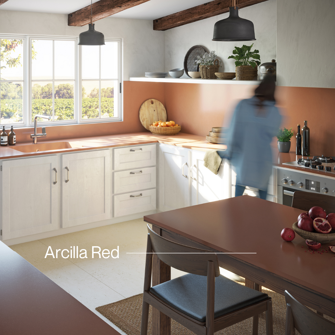 Just as the kitchen is the heart of your home, Silestone Arcilla Red is the heart of the Sunlit Days Collection. By bringing these two hearts together, you can create a space for everyone to love.  Explore Silestone's Sunlit Days Collection at bit.ly/SunlitDaysTWusa