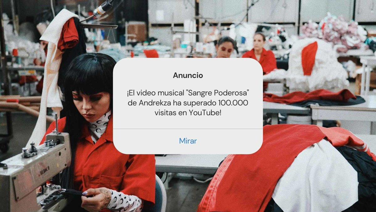 ¡El video musical 'Sangre Poderosa' de @AndrekDoll ha superado 100K visitas en @YouTube! 🔥🩸 🔗 youtube.com/watch?v=ymGakG…