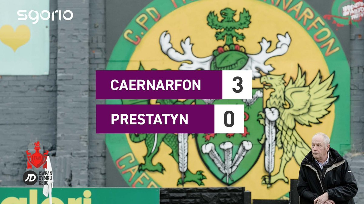 Image for the Tweet beginning: Caernarfon yn camu ymlaen i