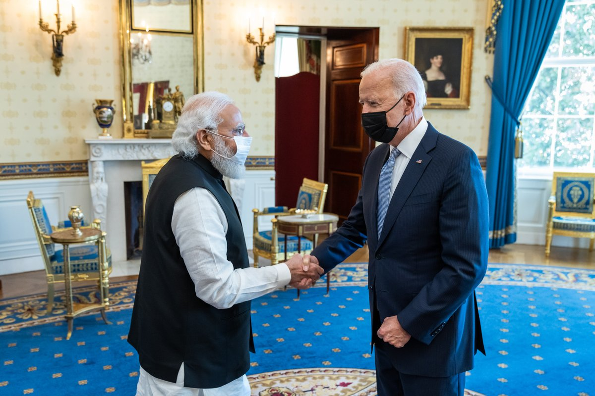 This morning, I hosted Prime Minister Modi at the White House as we launch a new chapter in the history of U.S.-India ties. Our two nations are the largest democracies in the world, and we're committed to taking on the toughest challenges we face — together.