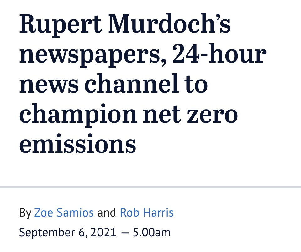 Apart from 5G, chemtrails and the moon landing I'm not a conspiracy theorist but the shift on net zero from Liberals at the same time as News Corp's with an election coming soon is, how would you say, just a big coinkydink?
