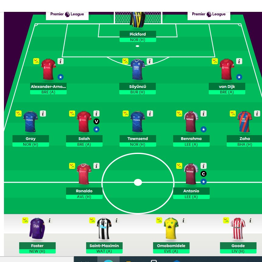 Good to go🤜🤛 No Sarr😬 Good luck #FPL Managers👌🌐 https://t.co/1Dq1MUu3s3