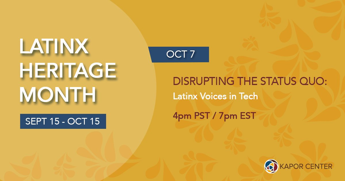 Excited to be on this panel to talk about Latinx people in tech feat. @LilsG31 and more awesome ppl. https://t.co/N71F23GdJJ