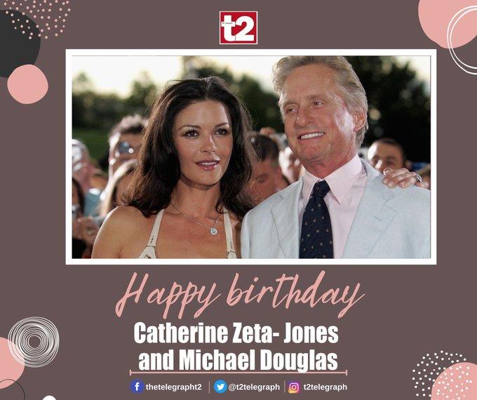 T2 wishes Hollywood couple Michael Douglas and Catherine Zeta-Jones a very happy birthday