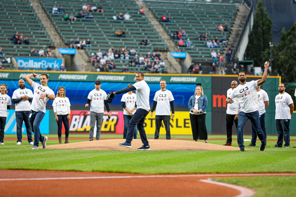 In the summer of 2020, our city's three major professional sports teams assembled to form the Cleveland 3-Team Alliance with a mission to create lasting social change in communities across Northeast Ohio. Tonight, members from all teams were on hand to throw out the first pitch.